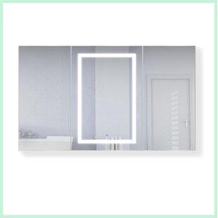 Best Reviews Vancleave 60 x 36 Recessed or Surface Mount Medicine Cabinet with 3 Adjustable Shelves and LED Lighting ByOrren Ellis
