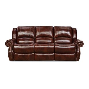 Hein Leather Reclining Sofa by Alcott Hill