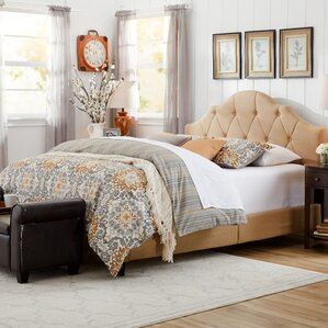 Edington Queen Upholstered Platform Bed by Three Posts