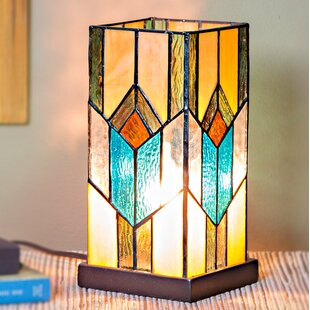 Stained glass table lamps wayfair critchlow stained glass 105 table lamp aloadofball