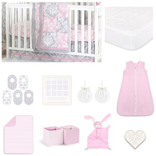 Comparison Damask Delight Essentials 18 Piece Crib Bedding Set By The Peanut Shell