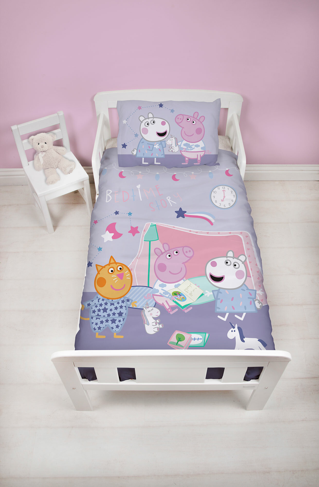new style 7b101 c1808 Peppa Pig Sleepy 2 Piece Toddler Bedding Set