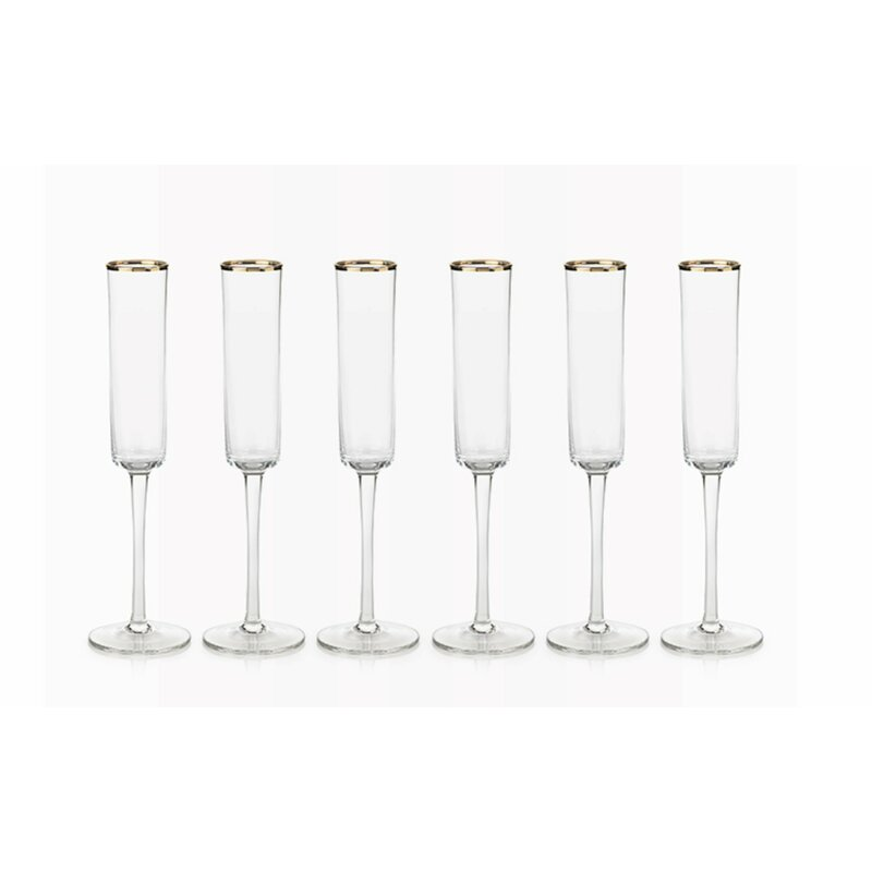le prise tall glass 6 42 oz champagne flute glass wayfair