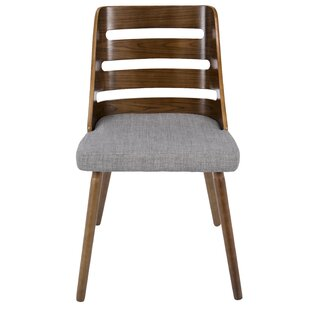 Modern Dining Chairs Allmodern - Curves-button-back-chair-in-chocolate-brown-and-green