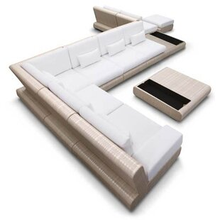 Sumba Design Sectional Sunbrella Seating Group by 100 Essentials