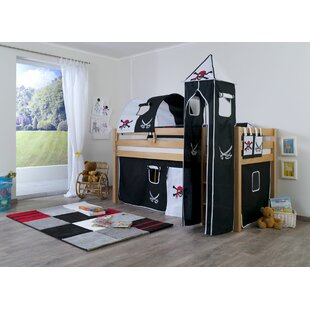 Thalia European Single Mid Sleeper Bed With Tower By Harriet Bee