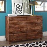 Dixson 6 Drawer Double Dresser by Mercury Row®
