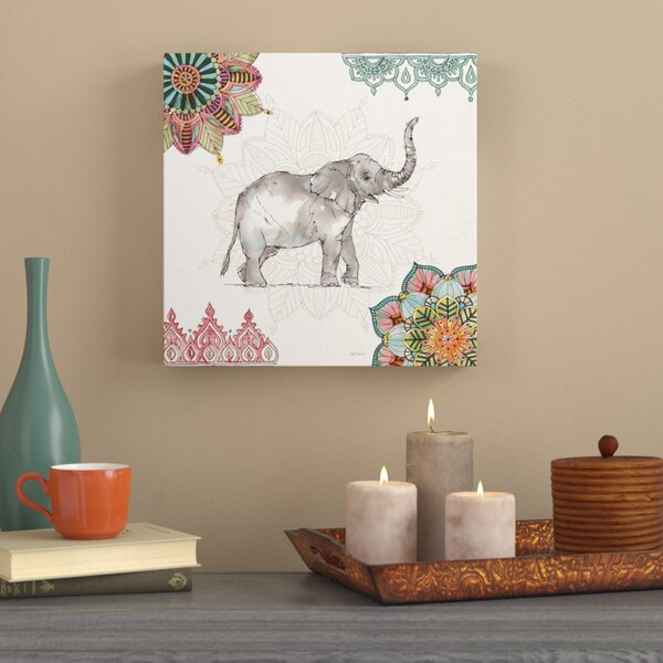 'Mandala Morning III' Graphic Art Print on Wrapped Canvas