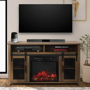 Runolfson TV Stand for TVs up to 55 with Fireplace Included by Gracie Oaks
