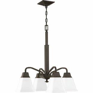 Ebern Designs Jadyn 4-Light Shaded Chandelier