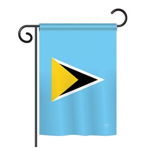Saint Lucia 2-Sided Vertical Flag by Breeze Decor