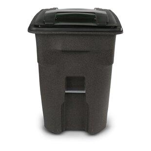 Plastic 96 Gallon Manual Lift Curbside Trash & Recycling Bin By Toter