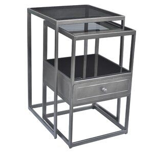 Soma Nesting Tables with Drawer by Caribou Dane