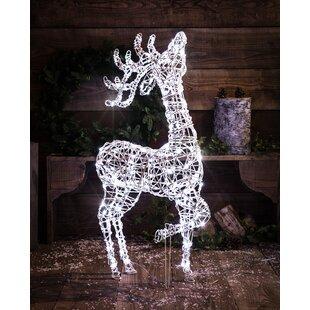 Wicker Effect Standing Deer Lighted Display By The Seasonal Aisle