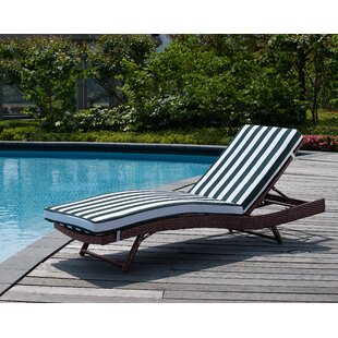 Mercury Row Prudence Reclining Chaise Lounge with Cushion