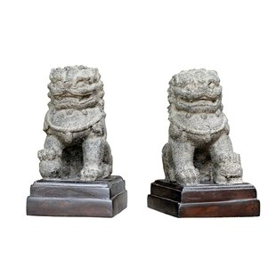 Clabaugh 2 Piece Temple Lion Statue Set By Sol 72 Outdoor