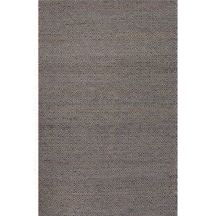 Affordable Gideon Hand-Woven Gray/Black Area Rug By Union Rustic