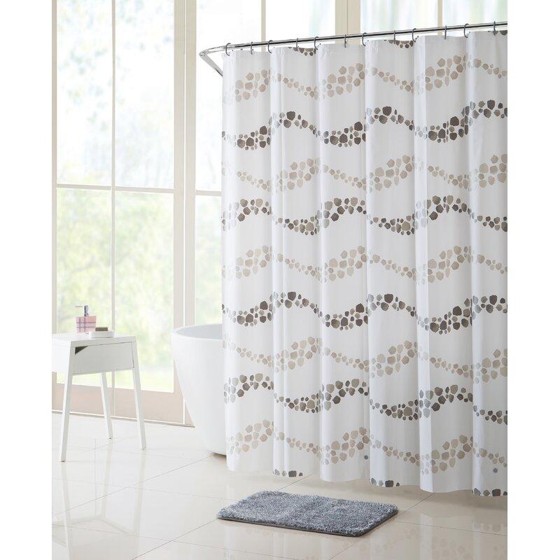 Orren Ellis Gammell Dot Wave Shower Curtain Set Reviews
