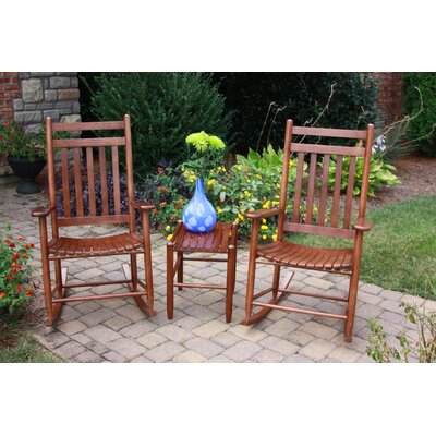 Dixie Seating Company 3 Piece Conversation Set Finish: Woodleaf Hickory