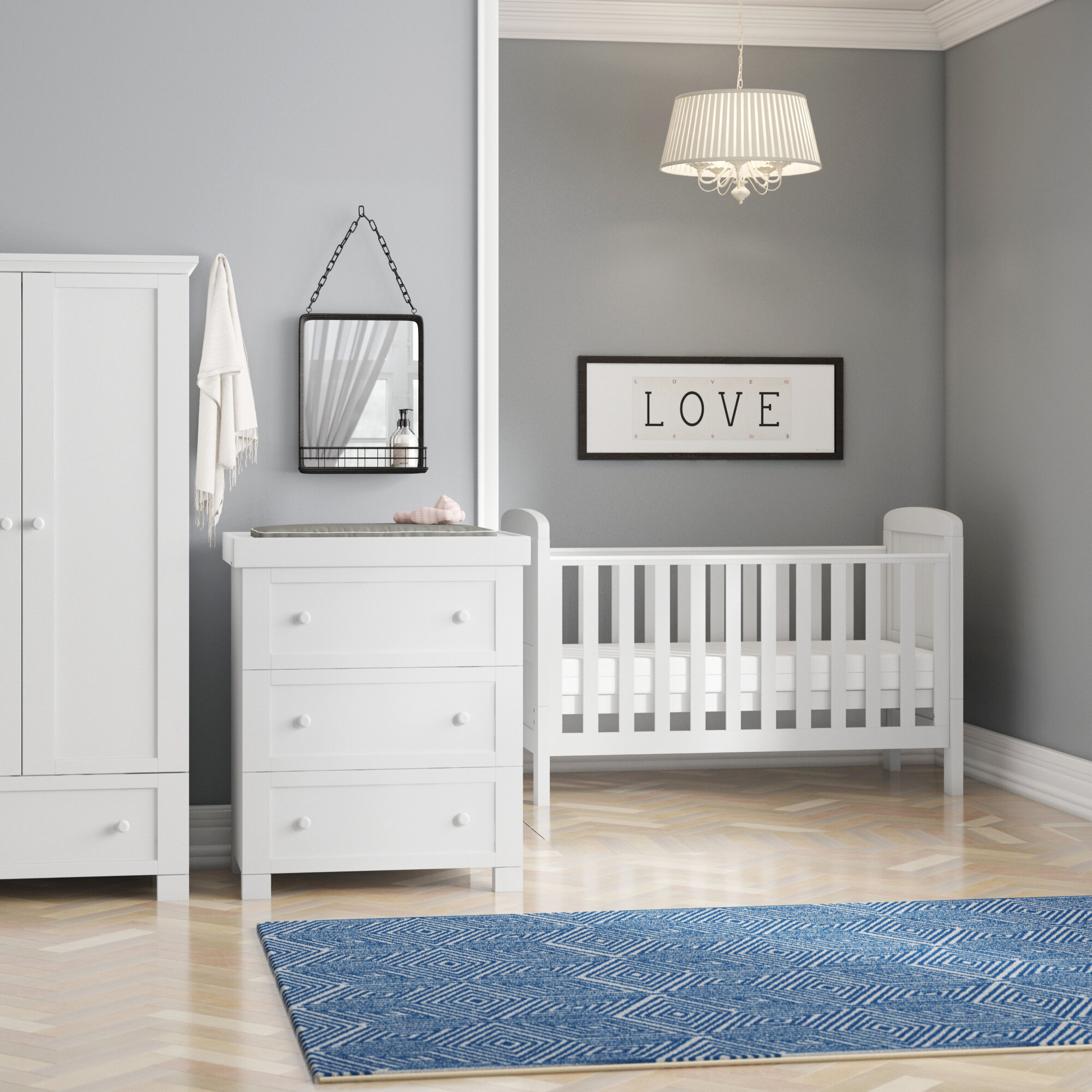 Adora Cot Bed 12-Piece Nursery Furniture Set