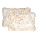 Laplant Faux Fur Lumbar Pillow (Set of 2)