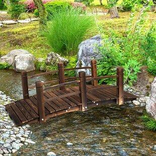 Aldea Wooden Garden Bridge By Union Rustic