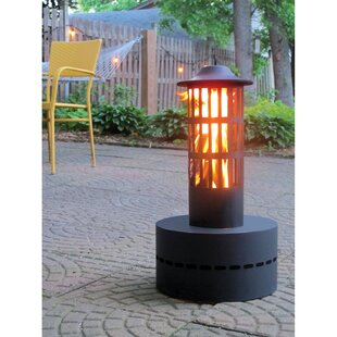 Flame Genie Tower Steel Wood Burning Outd..