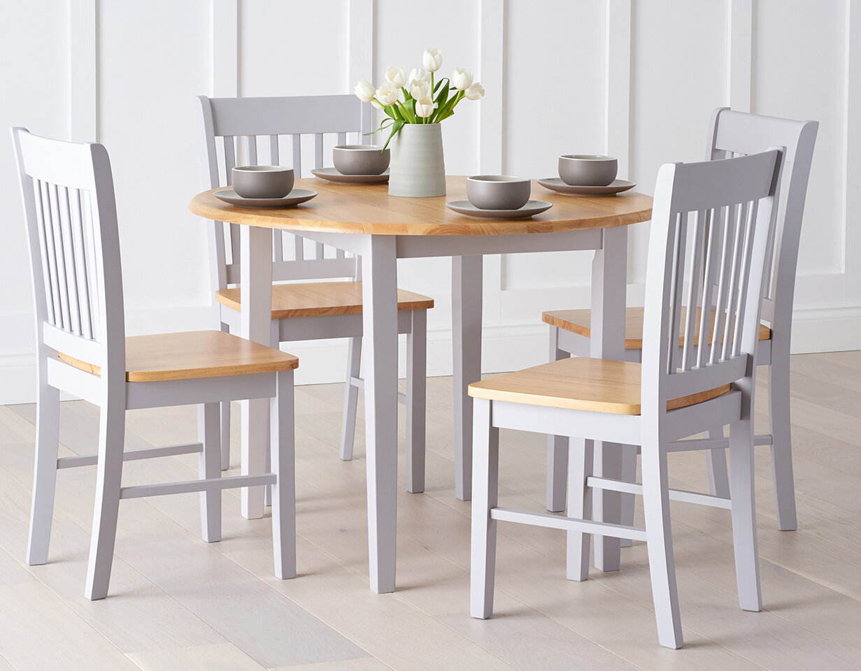 Home Etc Essgruppe Genovia mit ausziehbarem Tisch und 4 Stühlen ...