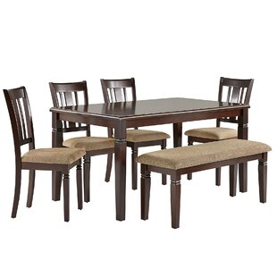 Rothbury 6 Piece Dining Set by Fleur De Lis Living Today Only Sale