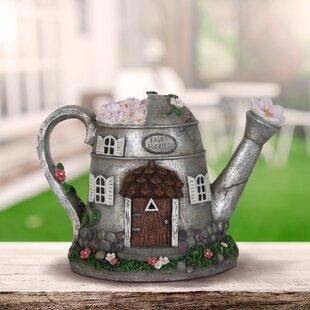 Dinardo Solar Tea Pot Fairy Garden by August Grove