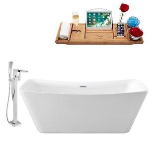 70 x 31 Freestanding Soaking Bathtub by Streamline Bath