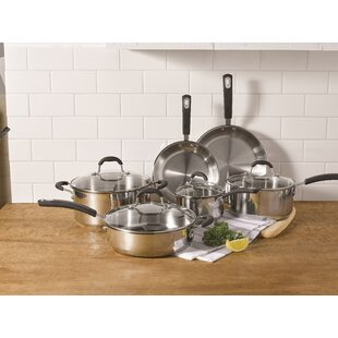 Prime 10-Piece Stainless Steel Cookware Set