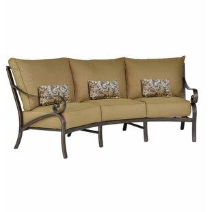Leona Veracruz Crescent Patio Sofa with Cushions