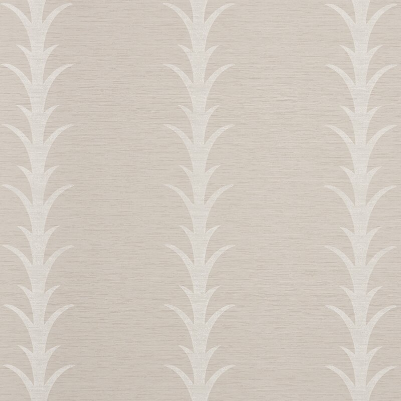 "Acanthus Stripe Floral and Botanical 24' L x 54"" Wallpaper Panel"