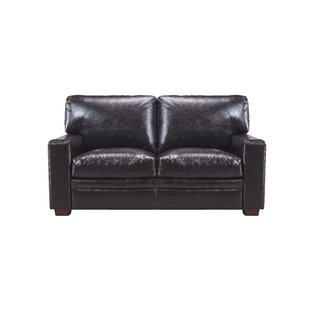Darby Home Co Cintia Leather Loveseat