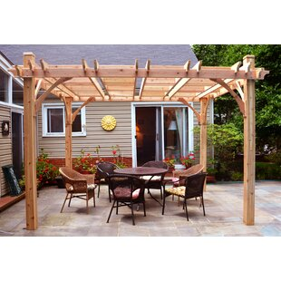 Breeze 12 Ft. W x 12 Ft. D Solid Wood Pergola by Outdoor Living Today