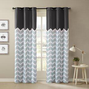 Alex Chevron Semi-Sheer Curtain Panels (Set of 2)