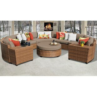 Medina Outdoor 8 Piece Sectional Seating Group with Cushions