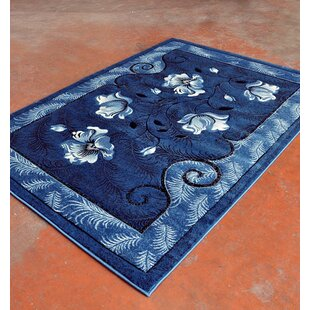 Check Prices Light Blue/Black Area Rug By Rug Tycoon