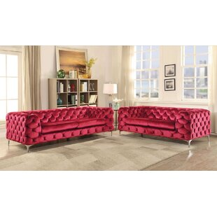 Everly Quinn Shade 2 Piece Living Room Set