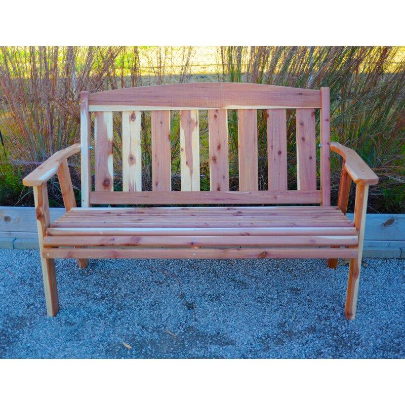 Superbe Giannini Natural Cedar Pattern Wooden Garden Bench