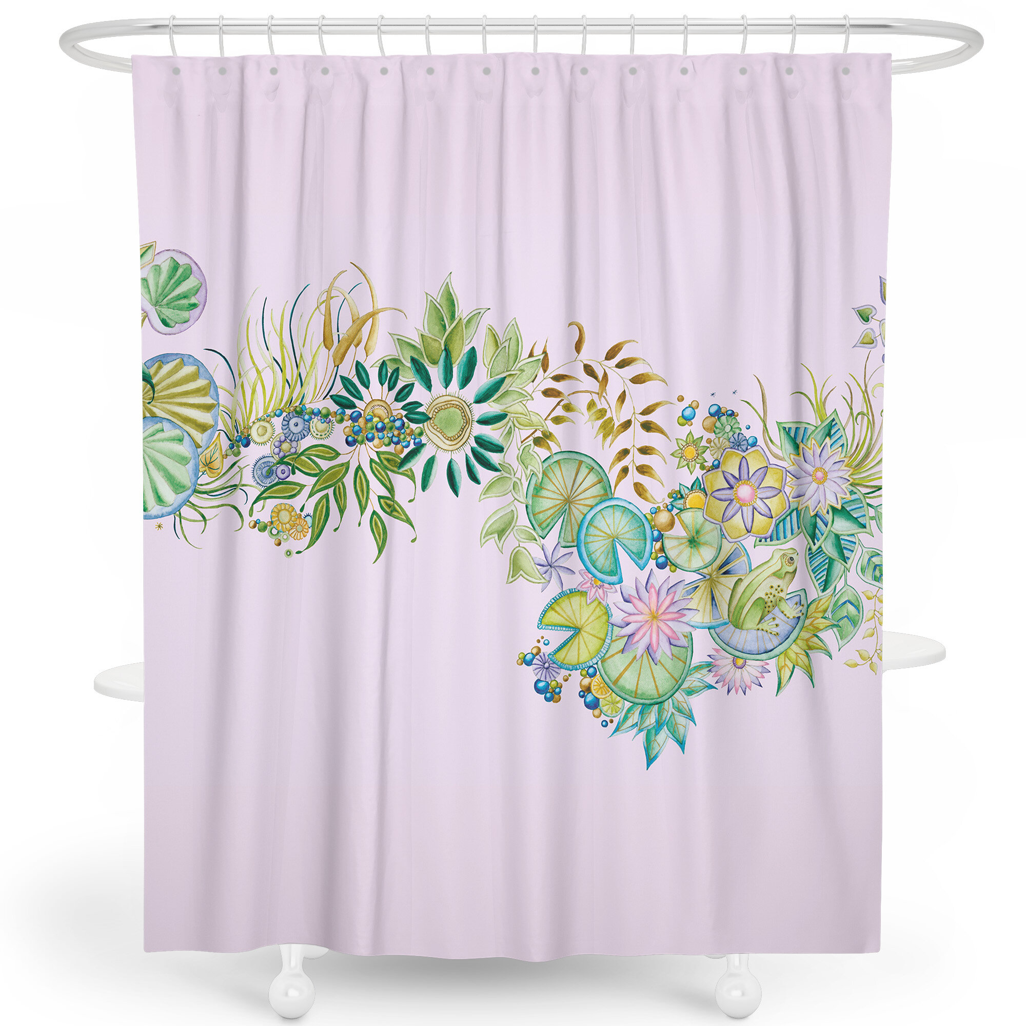 Margareta Tropical Plants Floral Single Shower Curtain Hooks