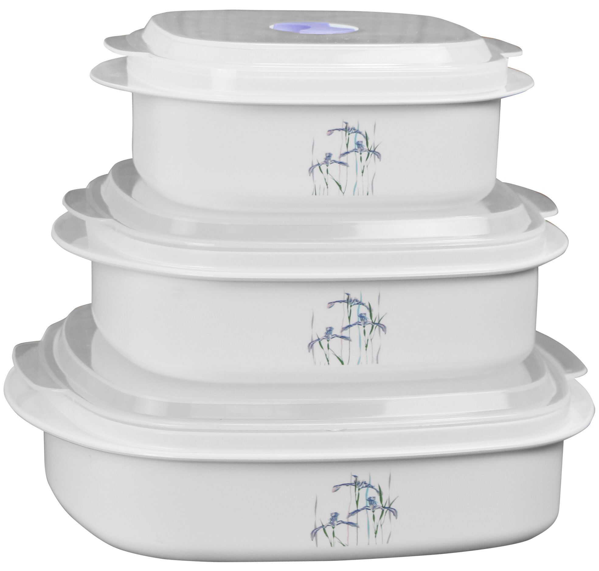 Corelle Coordinates Microwave Cookware 3 Container Food Storage Set Reviews Wayfair
