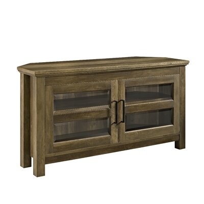 """Aurelio Corner TV Stand for TVs up to 48"""" Color: Rustic Oak by Andover Mills"""