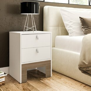 Plotkin 2 Drawer Nightstand by Wrought Studio
