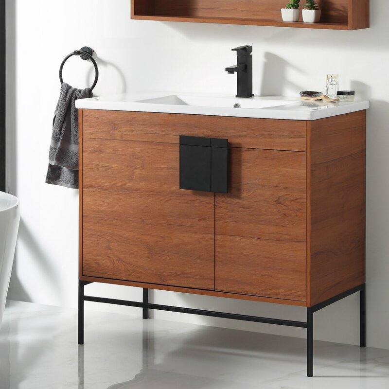 Allmodern Lee 36 Single Bathroom Vanity Set Reviews Wayfair