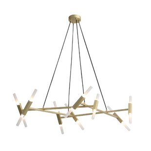 Brayden Studio Harris 16-Light LED Sputnik Chandelier