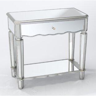 Rosdorf Park Almendarez Single Drawer Mirrored Console Table