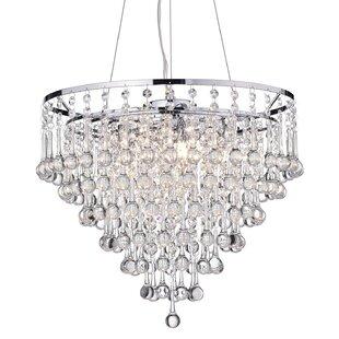 Glass bubble chandelier wayfair hera 5 light chandelier aloadofball Image collections