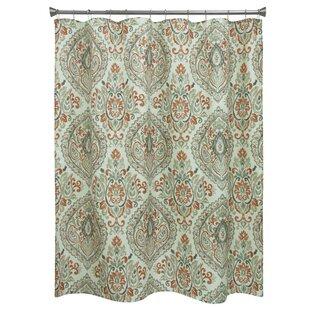 Carnside Cream Floral Shower Curtain ByRed Barrel Studio